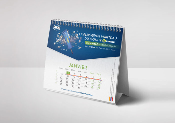Conception d'un calendrier chevalets