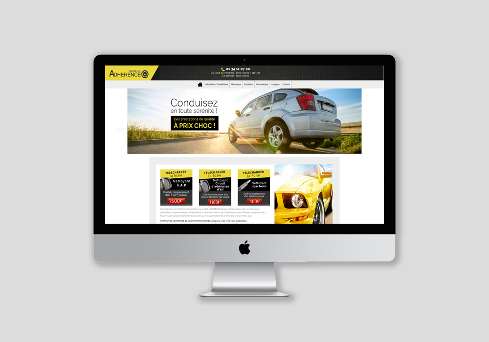 Réalisation site internet et webdesign automobile 95
