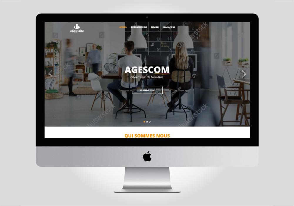Réalisation du webdesign pour agescom