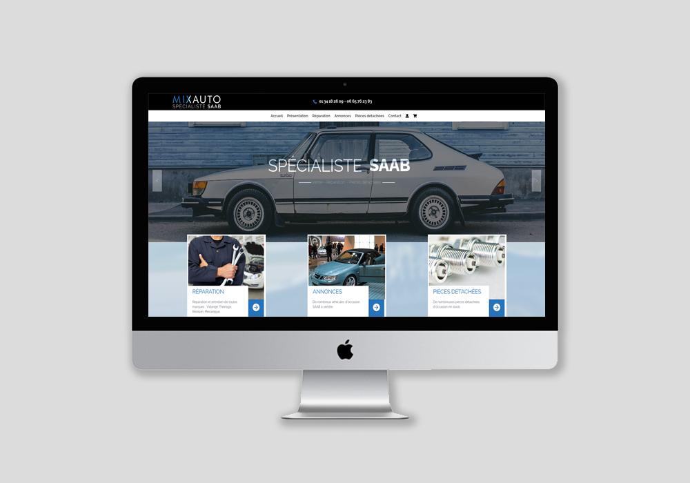 Création site vitrine automobile