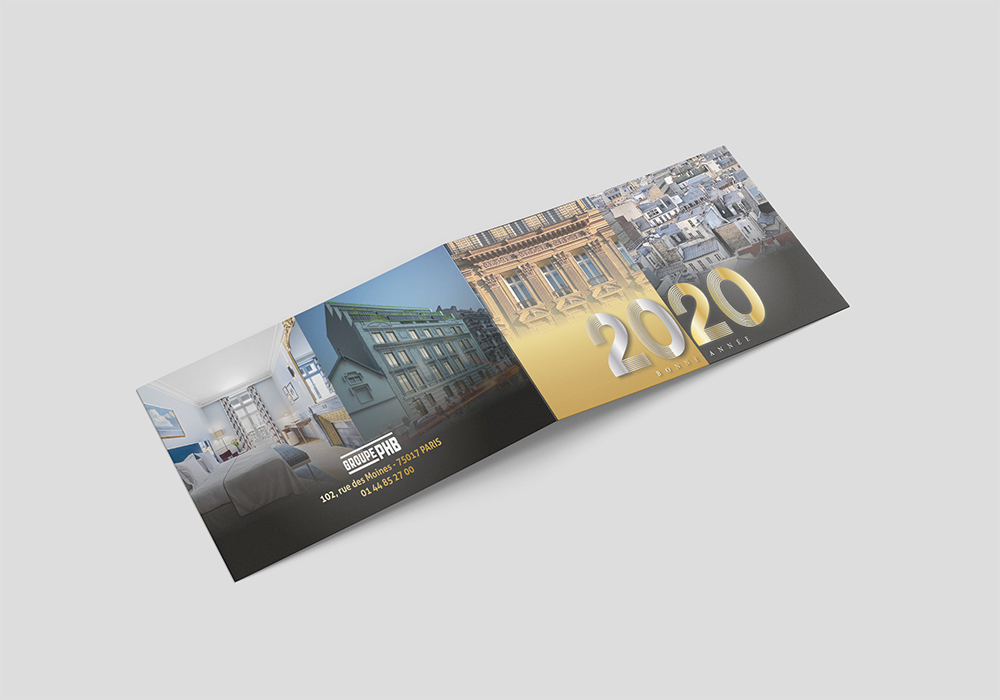 Création d'une carte de voeux pour le groupe PHB PARIS 75